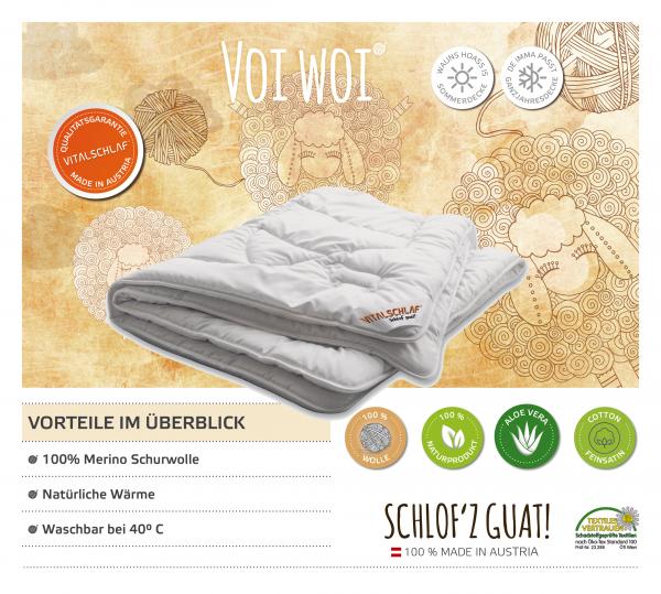 Vitalschlaf® GmbH - Voiwoi - Naturhaar. Passt immer: Sommer - Single. Maßgefertige Schlafsysteme und Bettwaren von Vitalschlaf: Ihre individuelle & vitale Schlafwelt aus Österreich.