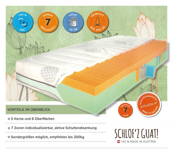 Voi Guat 200 - 7 Zonen Monokern. Maßgefertige Schlafsysteme von Vitalschlaf: Ihr individueller & vitaler Schlaf - Maß - Anzug.