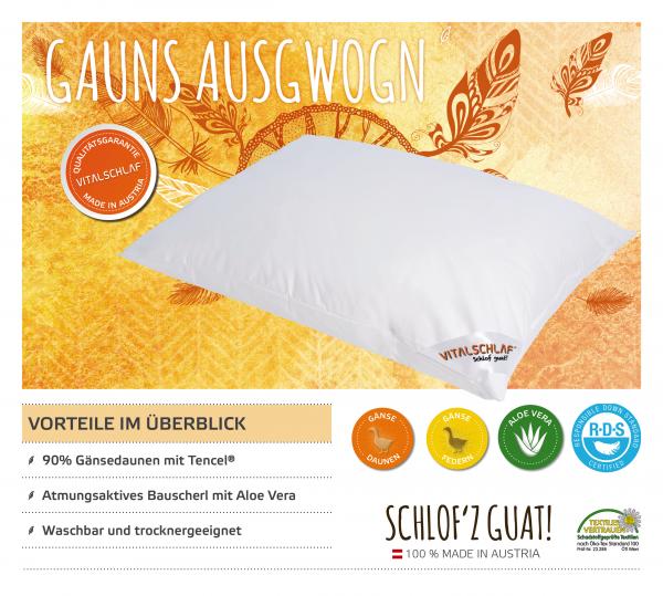 Vitalschlaf® GmbH - Gauns Ausgwogn - Daune. Reißverschluß: Nein. Maßgefertige Schlafsysteme und Bettwaren von Vitalschlaf: Ihre individuelle & vitale Schlafwelt aus Österreich.