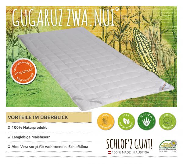 Vitalschlaf® GmbH - Gugaruz Zwa Nui - Funktionsfaser. Artikel: Unterbett. Maßgefertige Schlafsysteme und Bettwaren von Vitalschlaf: Ihre individuelle & vitale Schlafwelt aus Österreich.