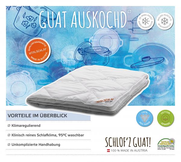 Vitalschlaf® GmbH - Guat Auskochd - Funktionsfaser. Passt immer: Passt immer - Single. Maßgefertige Schlafsysteme und Bettwaren von Vitalschlaf: Ihre individuelle & vitale Schlafwelt aus Österreich.