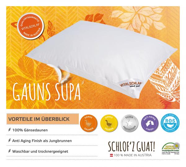 Vitalschlaf® GmbH - Gauns Supa - Daune. Reißverschluß: Nein. Maßgefertige Schlafsysteme und Bettwaren von Vitalschlaf: Ihre individuelle & vitale Schlafwelt aus Österreich.