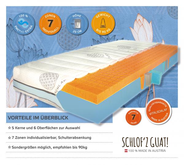Voi Klass 90 - 7 Zonen Monokern. Maßgefertige Schlafsysteme von Vitalschlaf: Ihr individueller & vitaler Schlaf - Maß - Anzug.