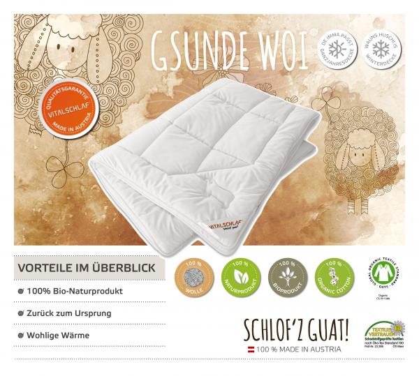 Vitalschlaf® GmbH - Gsunde Woi - Naturhaar. Winter: Passt immer - Single. Maßgefertige Schlafsysteme und Bettwaren von Vitalschlaf: Ihre individuelle & vitale Schlafwelt aus Österreich.