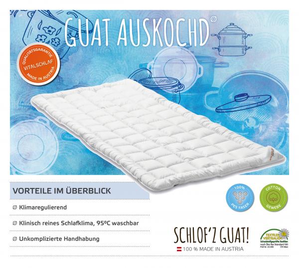 Vitalschlaf® GmbH - Guat Auskochd - Funktionsfaser. Artikel: Unterbett. Maßgefertige Schlafsysteme und Bettwaren von Vitalschlaf: Ihre individuelle & vitale Schlafwelt aus Österreich.