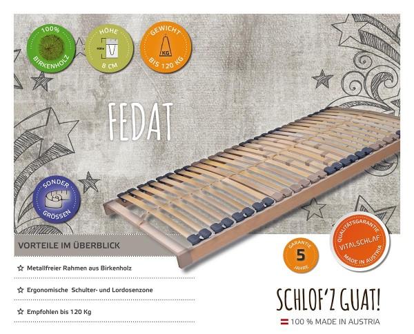 Fedat - Naturholz - Fix. Maßgefertige Lattenroste und Sondergrößen von Vitalschlaf: Die individuelle Unterfederung für Ihren vitalen Schlaf - Maß - Anzug.