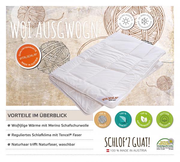 Vitalschlaf® GmbH - Woi Ausgwogn - Naturhaar. Winter: Sommer - Single. Maßgefertige Schlafsysteme und Bettwaren von Vitalschlaf: Ihre individuelle & vitale Schlafwelt aus Österreich.