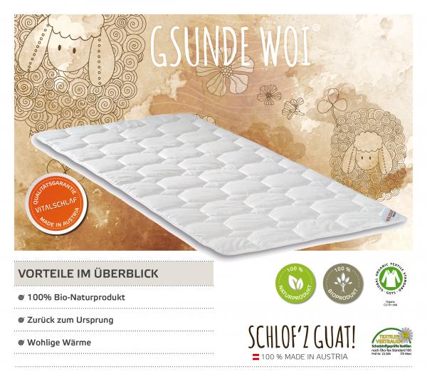 Vitalschlaf® GmbH - Gsunde Woi - Naturhaar. Artikel: Unterbett. Maßgefertige Schlafsysteme und Bettwaren von Vitalschlaf: Ihre individuelle & vitale Schlafwelt aus Österreich.