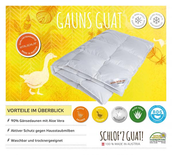 Vitalschlaf® GmbH - Gauns Guat - Daune. Winter: Passt immer - Single. Maßgefertige Schlafsysteme und Bettwaren von Vitalschlaf: Ihre individuelle & vitale Schlafwelt aus Österreich.