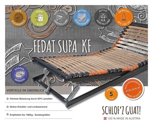 Fedat Supa KF - Buchenholz trifft Fiberglas - KF. Maßgefertige Lattenroste und Sondergrößen von Vitalschlaf: Die individuelle Unterfederung für Ihren vitalen Schlaf - Maß - Anzug.