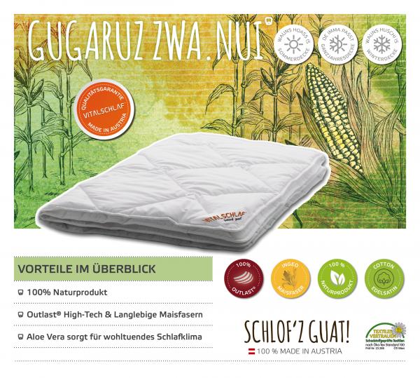 Vitalschlaf® GmbH - Gugaruz Zwa Nui - Funktionsfaser. Winter: Sommer - Single. Maßgefertige Schlafsysteme und Bettwaren von Vitalschlaf: Ihre individuelle & vitale Schlafwelt aus Österreich.