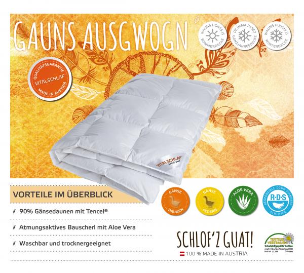 Vitalschlaf® GmbH - Gauns Ausgwogn - Daune. Winter: Sommer - . Maßgefertige Schlafsysteme und Bettwaren von Vitalschlaf: Ihre individuelle & vitale Schlafwelt aus Österreich.