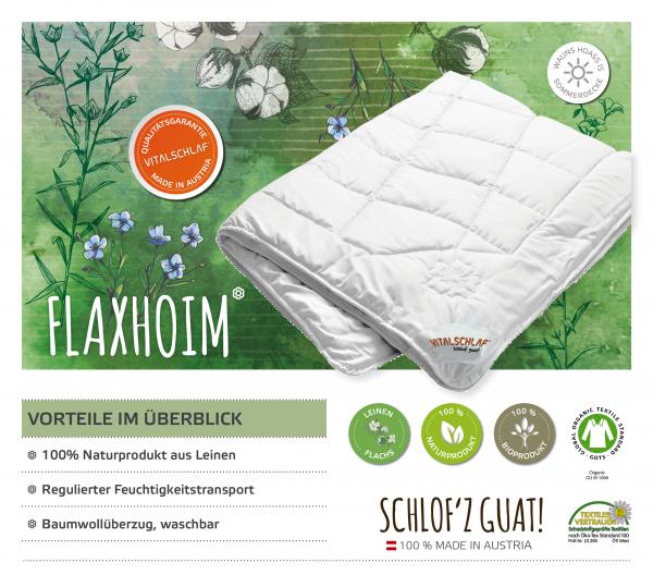 Vitalschlaf® GmbH - Flaxhoim - Naturfaser. Winter: Sommer - Single. Maßgefertige Schlafsysteme und Bettwaren von Vitalschlaf: Ihre individuelle & vitale Schlafwelt aus Österreich.