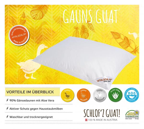 Vitalschlaf® GmbH - Gauns Guat - Daune. Reißverschluß: Nein. Maßgefertige Schlafsysteme und Bettwaren von Vitalschlaf: Ihre individuelle & vitale Schlafwelt aus Österreich.