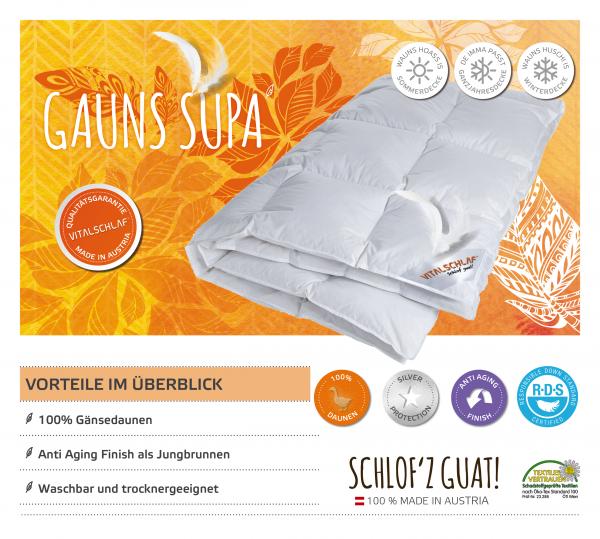 Vitalschlaf® GmbH - Gauns Supa - Daune. Winter: Sommer - . Maßgefertige Schlafsysteme und Bettwaren von Vitalschlaf: Ihre individuelle & vitale Schlafwelt aus Österreich.