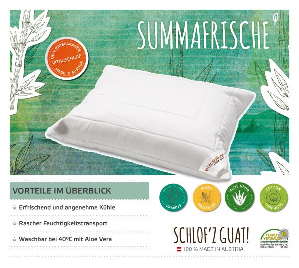 Vitalschlaf® GmbH - Summafrische - Naturfaser. Reißverschluß: Ja. Maßgefertige Schlafsysteme und Bettwaren von Vitalschlaf: Ihre individuelle & vitale Schlafwelt aus Österreich.
