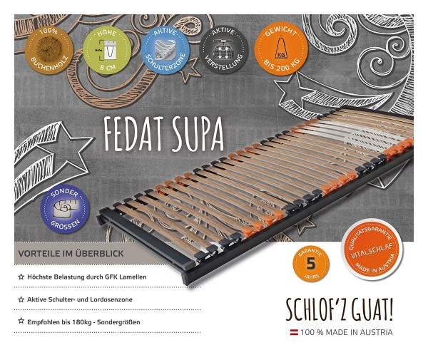 Fedat Supa - Buchenholz trifft Fiberglas - Fix. Maßgefertige Lattenroste und Sondergrößen von Vitalschlaf: Die individuelle Unterfederung für Ihren vitalen Schlaf - Maß - Anzug.
