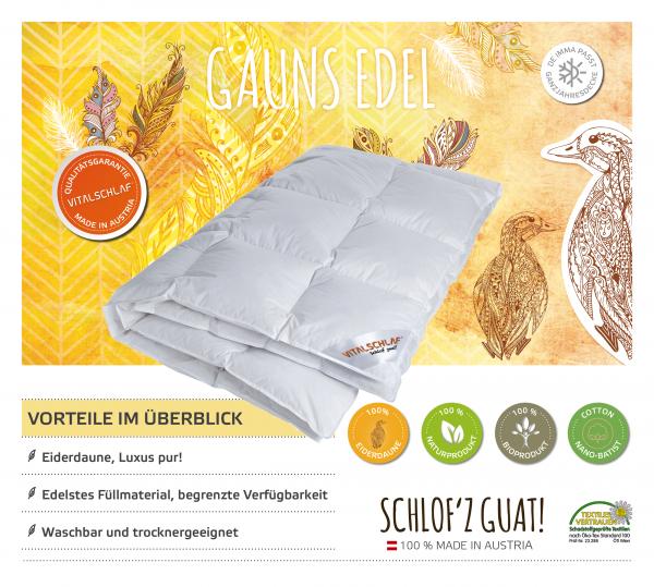 Vitalschlaf® GmbH - Gauns Edel - Daune. Passt immer: Passt immer - . Maßgefertige Schlafsysteme und Bettwaren von Vitalschlaf: Ihre individuelle & vitale Schlafwelt aus Österreich.
